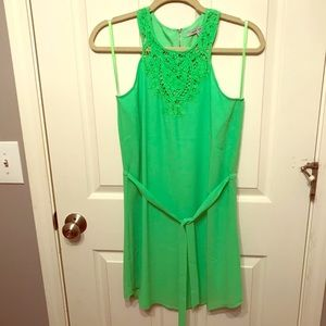NEW 🌟 Naked Zebra Boutique Lime Green Dress Small